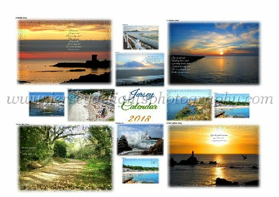 Jersey Happy Holidays - a calendar of photographs taken arouind the coast of Jersey plus poetry designed to lift your spirit